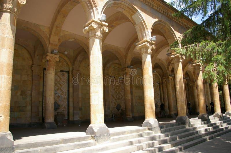 Quelle des heißen Mineralwassers Erholungsort Jermuk, Armenien lizenzfreies stockbild