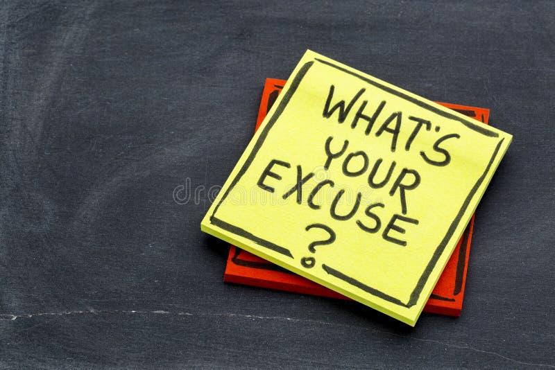 Quelle est votre excuse ? photos libres de droits