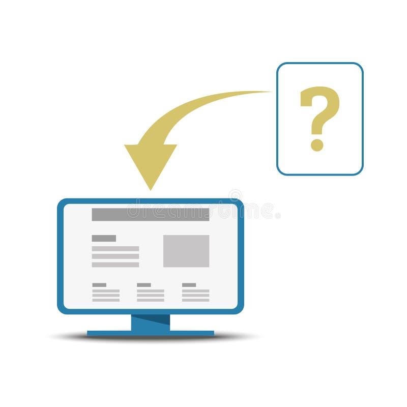 Quelle information à enfoncer sur un site Web, conception d'ux photo libre de droits