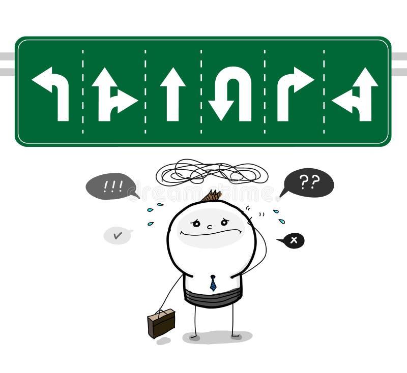 Quelle manière est la bonne direction ? illustration de vecteur