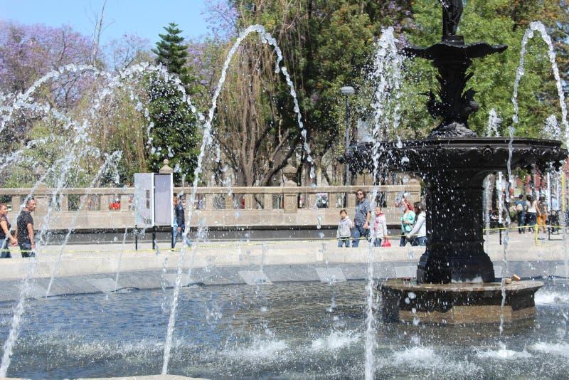 Quelle in Mexiko City stockbilder