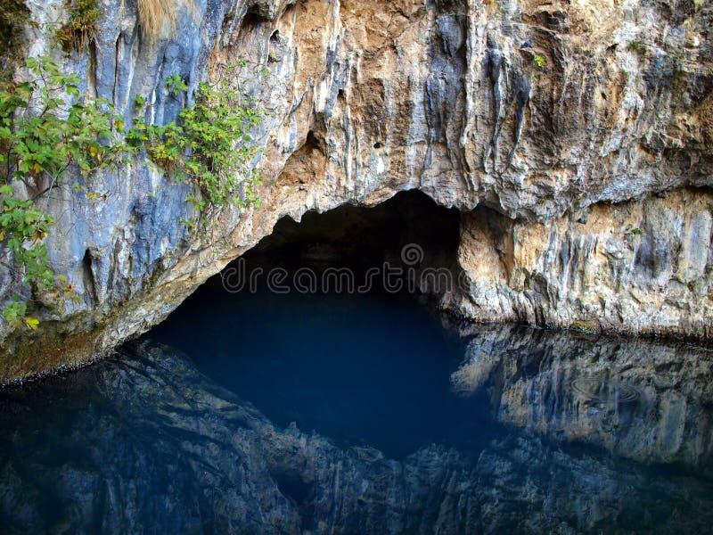 Quelle von Bunafluß, Blagaj, Bosnien und Herzegowina lizenzfreie stockfotos