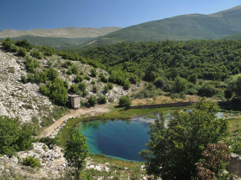 Quelle von Fluss Cetina lizenzfreies stockfoto