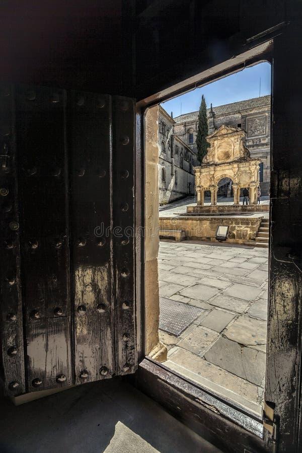 Quelle von Santa Maria, Baeza, Spanien stockfoto