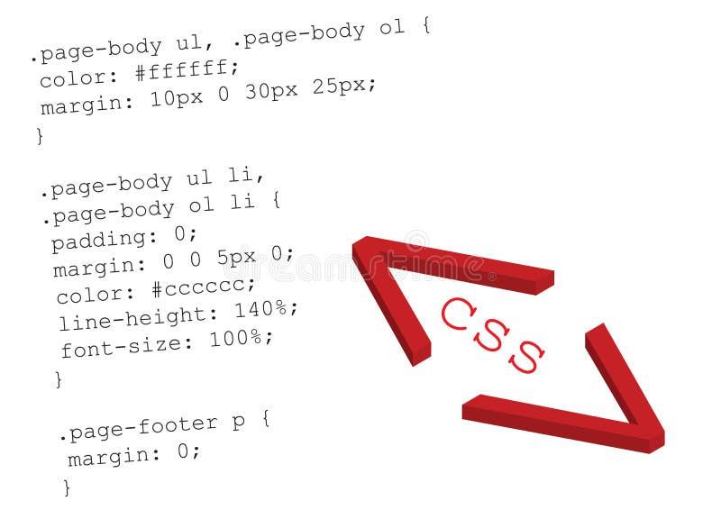 Quellencode css - Vektor lizenzfreie abbildung