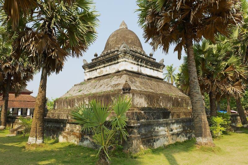 Quello stupa di Mak Mo al tempio di Wat Visounnarath in Luang Prabang, Laos fotografia stock libera da diritti