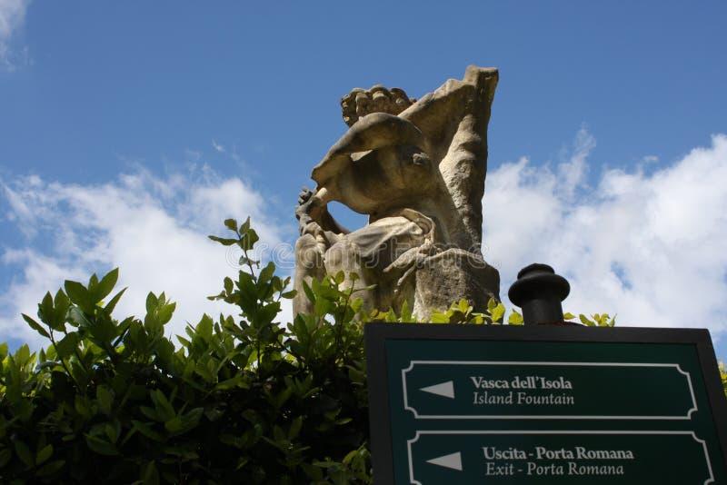 Quelques détails des jardins de Boboli à Florence, Italie photos stock