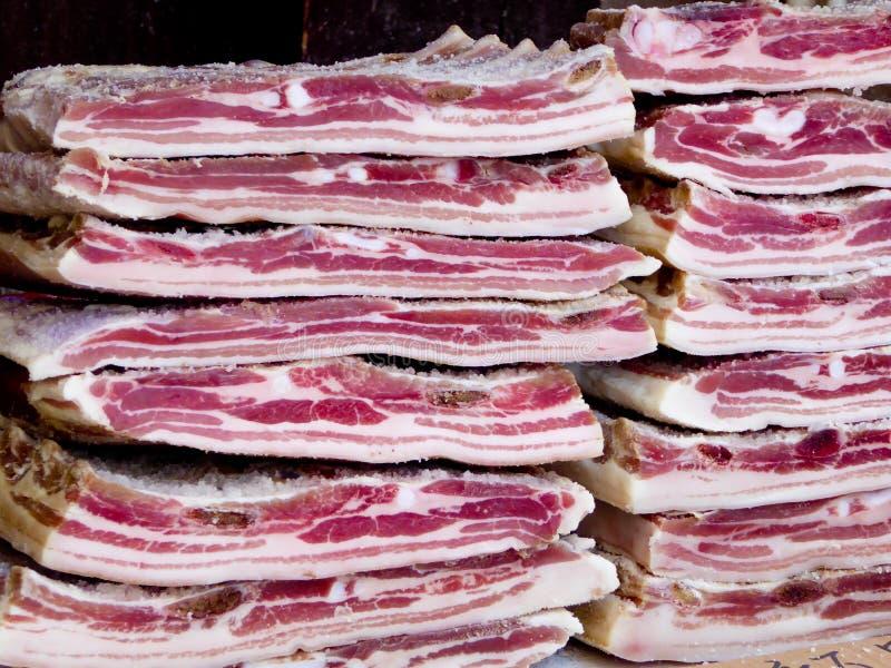 Quelques morceaux de porc photo libre de droits