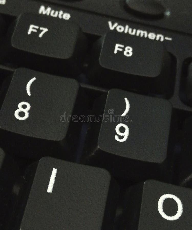 Quelques touches d'ordinateur d'un clavier noir photo stock