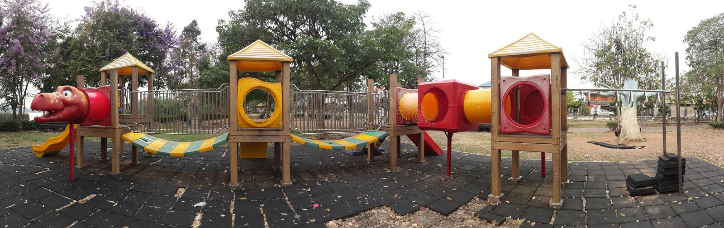 Quelques vues du parc image stock