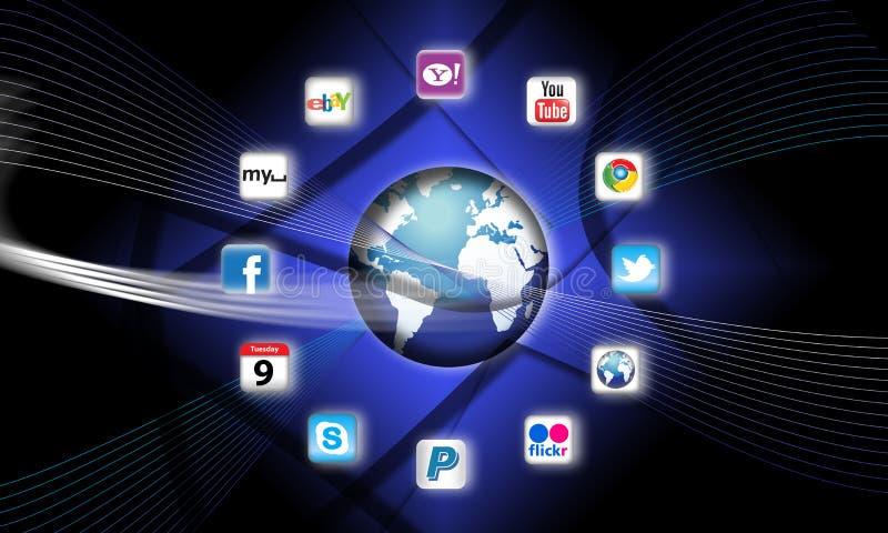 Quels sont des apps sont sur votre réseau mobile aujourd'hui ? illustration stock