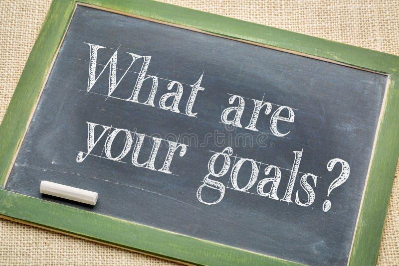 Quels sont vos buts ? photographie stock