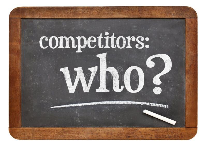 Quem é seu conceito do concorrente imagens de stock royalty free