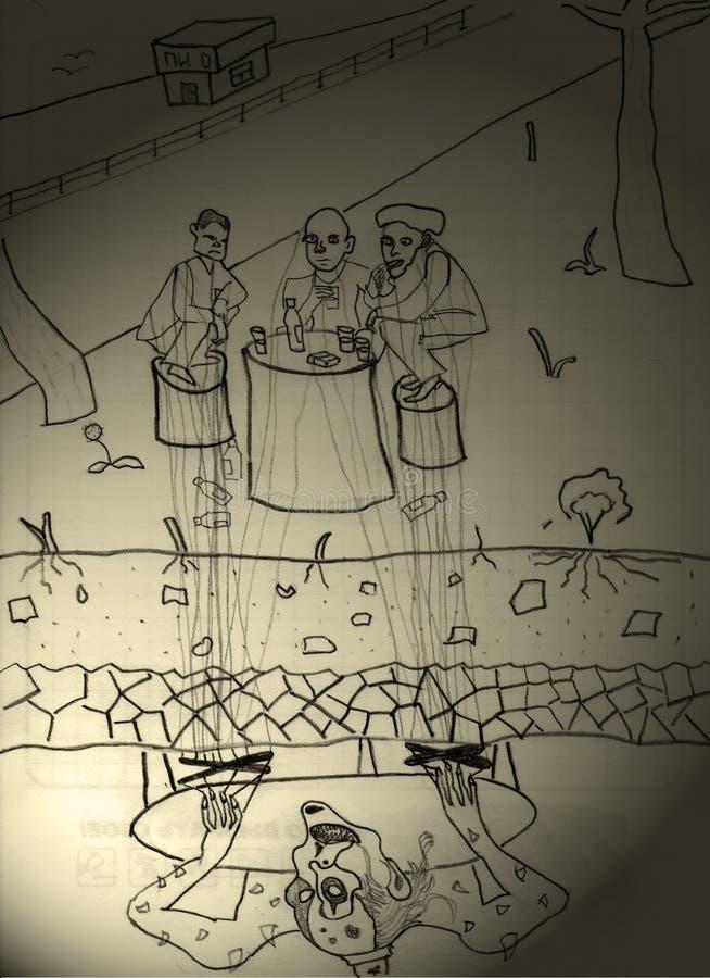 Quem controla a mente do ladrão ilustração do vetor