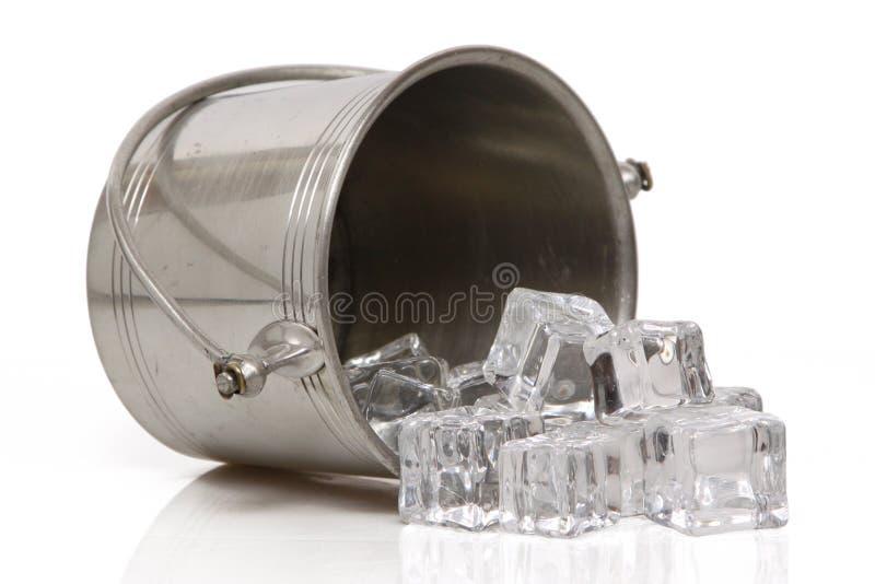 Quem derramou a cubeta de gelo? imagem de stock
