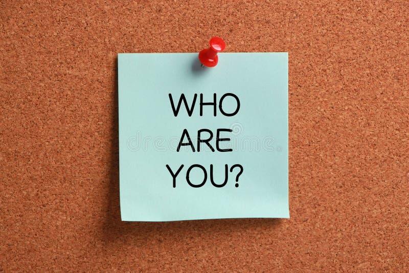 Quem são você? foto de stock