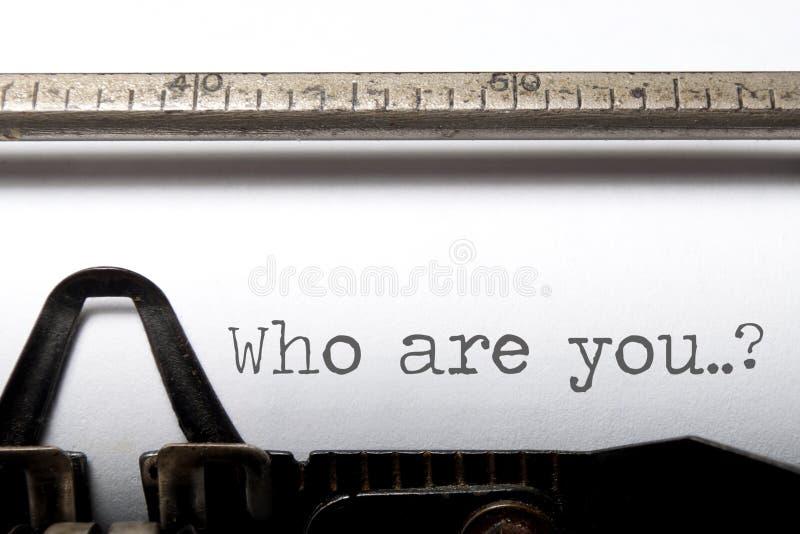 Quem são você? foto de stock royalty free