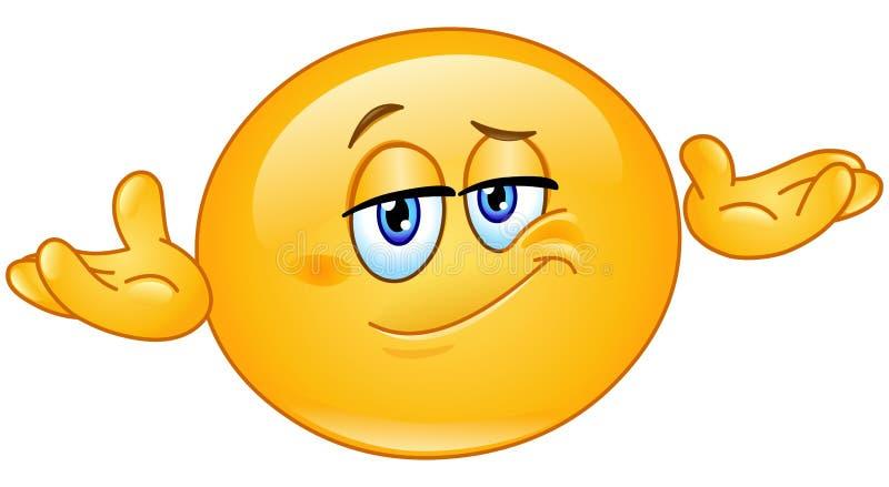 Quem se importa o emoticon ilustração do vetor