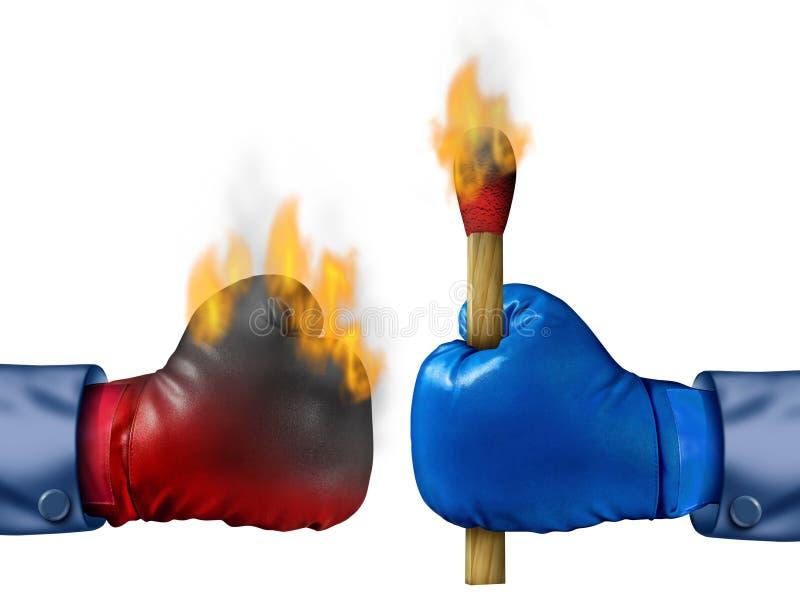 Quema de la competencia stock de ilustración