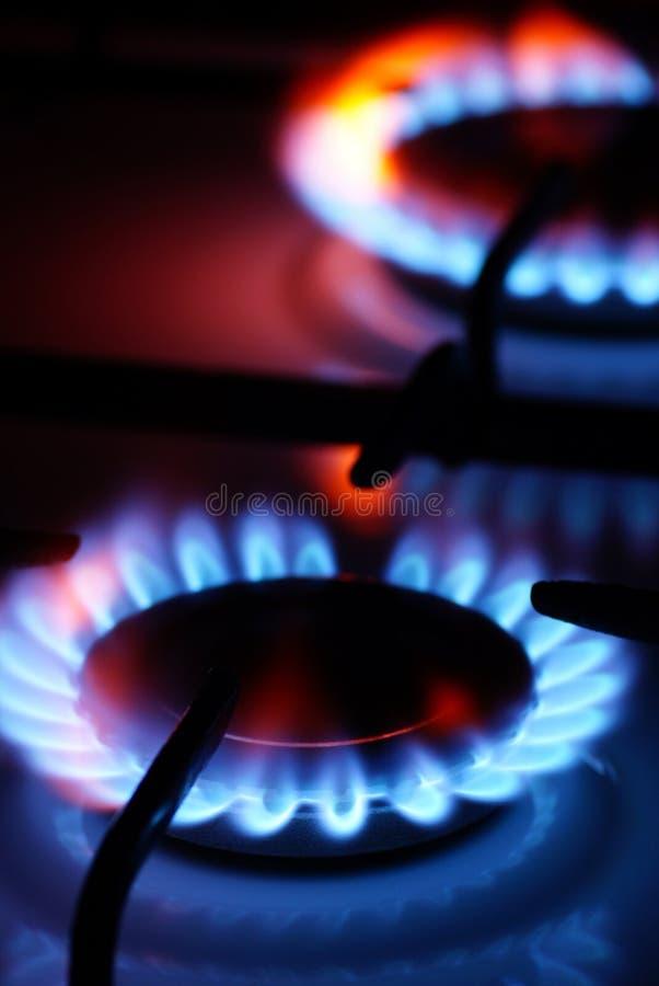 Quemadores de gas. imagenes de archivo