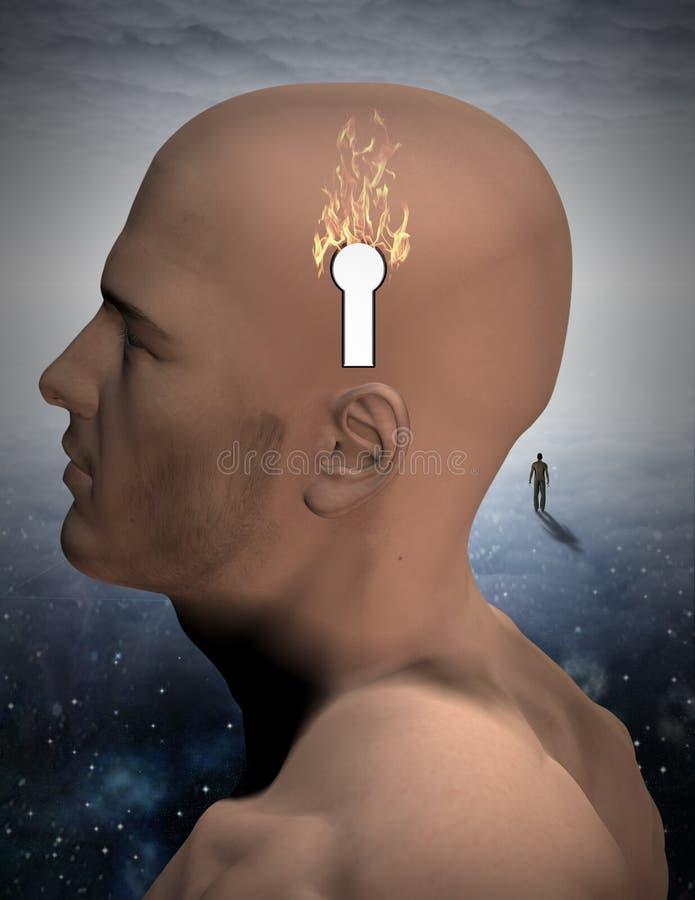Quemadura de la mente ilustración del vector