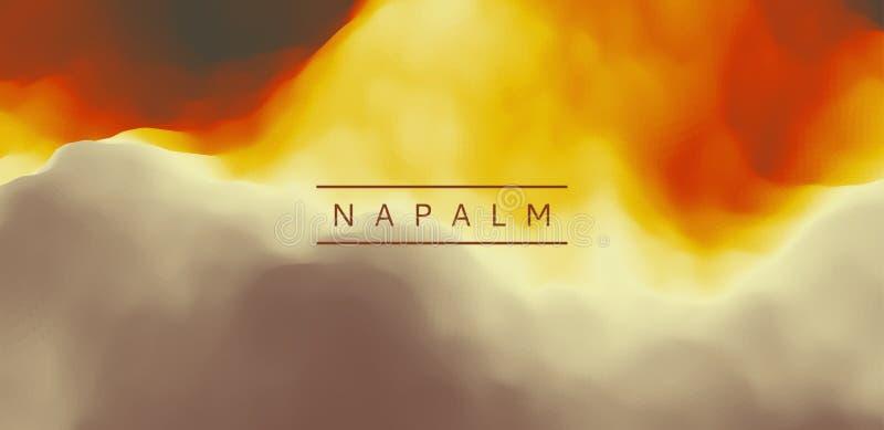 Quemaduras del napalm Fondo abstracto con efecto dinámico Pendientes de moda Se puede utilizar para hacer publicidad, comercializ ilustración del vector