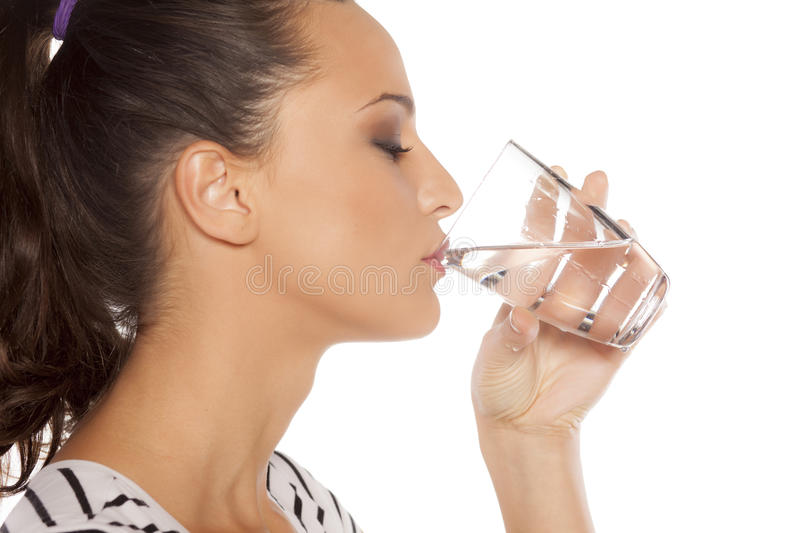 Quenching thirst stock images