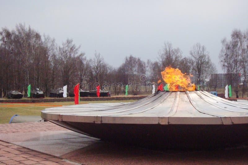 Quenchless płomień w Grodno obrazy royalty free