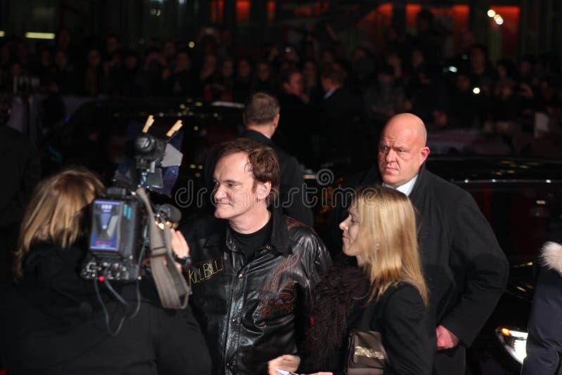 Quentin Tarantino - Django Unchained - premiär arkivfoton