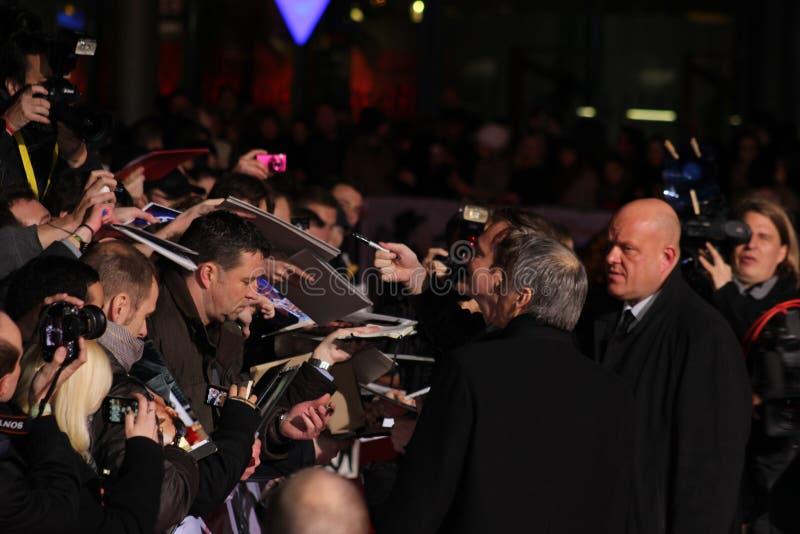 Quentin Tarantino - Django Unchained - premiär royaltyfria foton