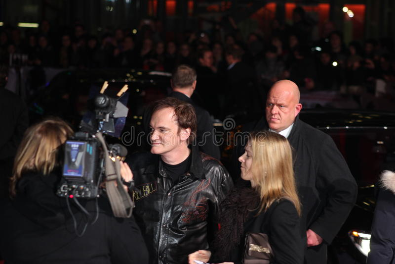 Quentin Tarantino - Django Unchained - première photos stock