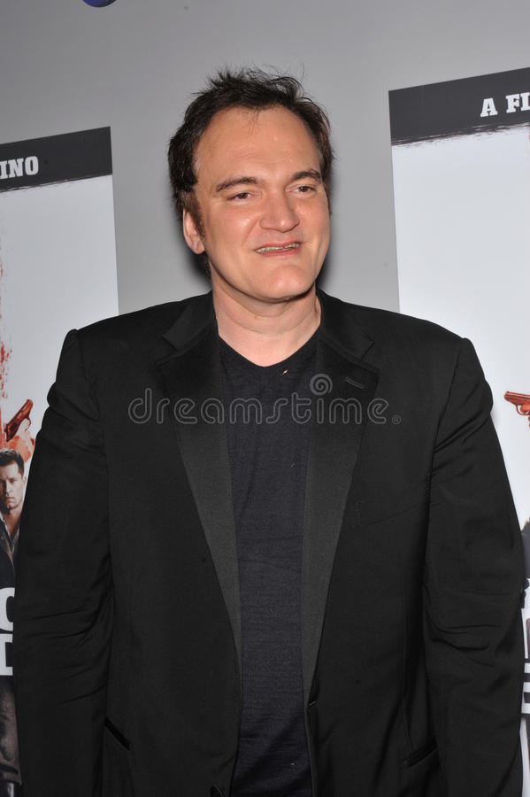 Quentin Tarantino. At the DVD launch of his movie 'Inglourious Basterds' at the New Beverly Cinema, Los Angeles. December 14, 2009 Los Angeles, CA Picture: Paul stock image