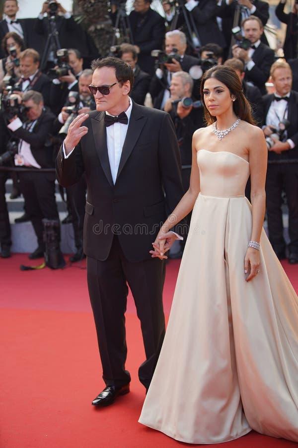 Quentin Tarantino Tarantino i Daniella obrazy royalty free