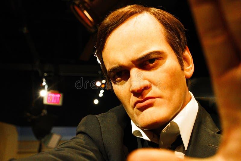 Quentin Tarantino i madamen Tussauds Hollywood royaltyfria bilder