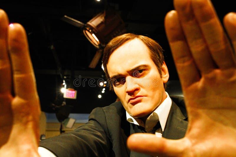 Quentin Tarantino i madamen Tussauds Hollywood arkivbilder