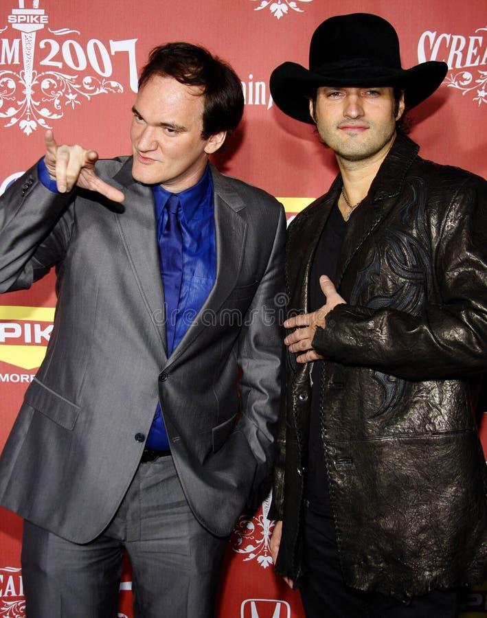 Quentin Tarantino i Robert Rodriguez obrazy stock