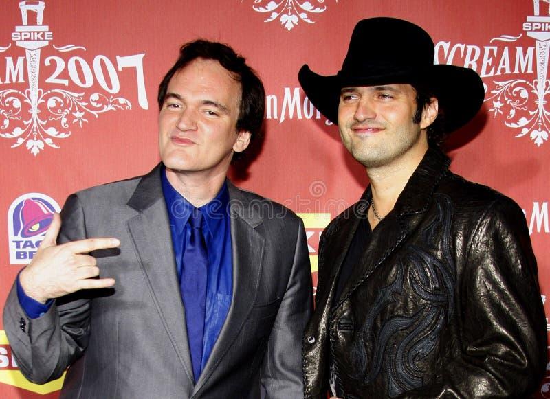 Quentin Tarantino i Robert Rodriguez fotografia stock