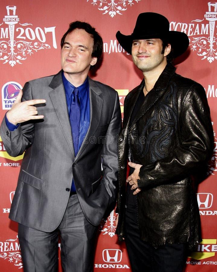 Quentin Tarantino i Robert Rodriguez zdjęcia royalty free