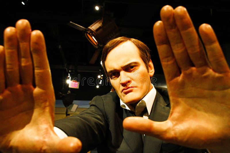 Quentin Tarantino na senhora Tussauds Hollywood foto de stock