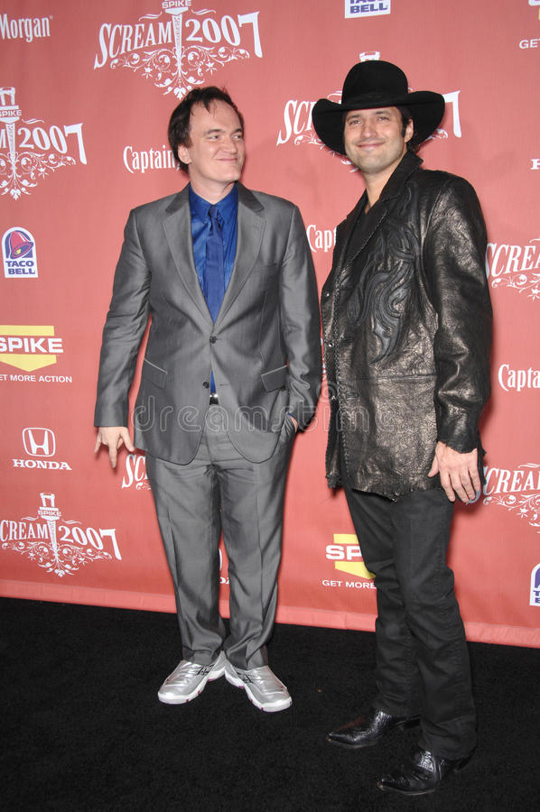 Quentin Tarantino, Robert Rodriguez. Quentin Tarantino (left) & Robert Rodriguez at Spike TV's Scream 2007 Awards honoring the best in horror, sci-fi, fantasy & royalty free stock photography
