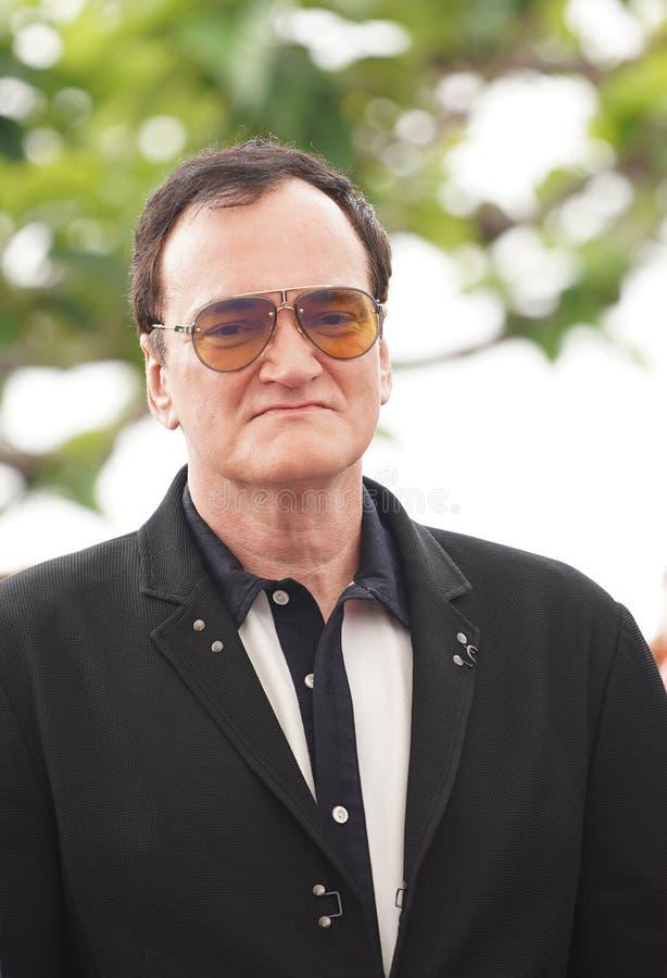 Quentin Tarantino s'occupe de la séance photo photographie stock libre de droits