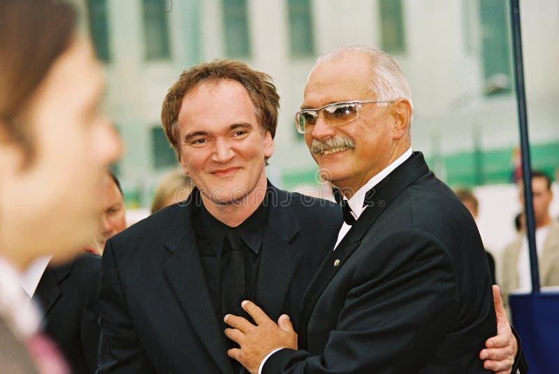 Quentin Tarantino und Nikita Mikhalkov stockbilder