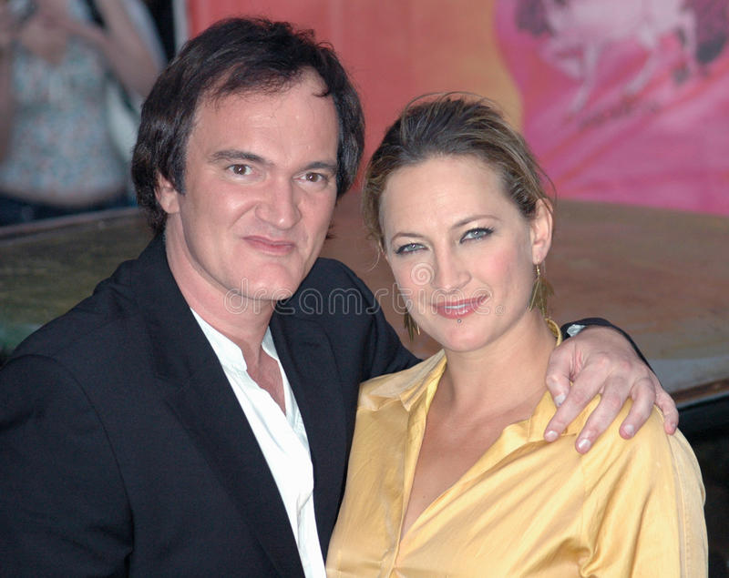 Quentin Tarantino, Zoe Bell. German premiere of the film Death Proof, July, 23, 2007, Berlin stock photos