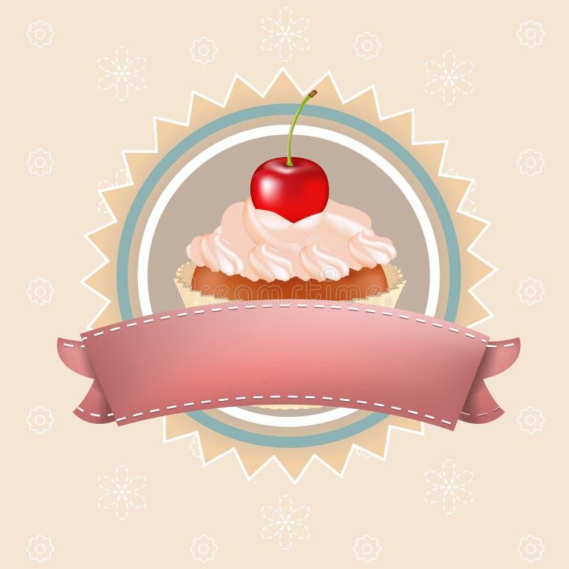 Queque com cereja
