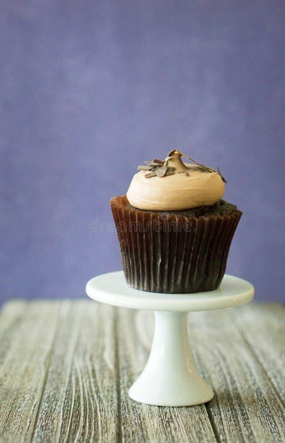 Queque do chocolate do chocolate fotografia de stock royalty free