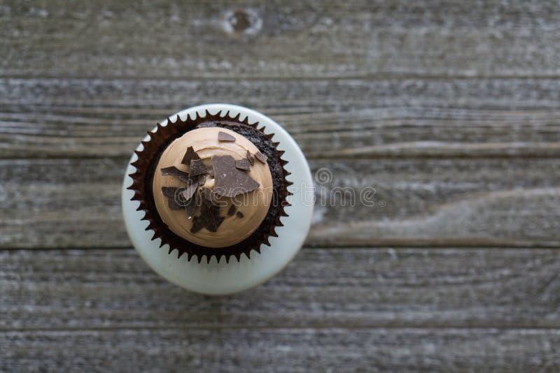 Queque do chocolate do chocolate imagem de stock royalty free