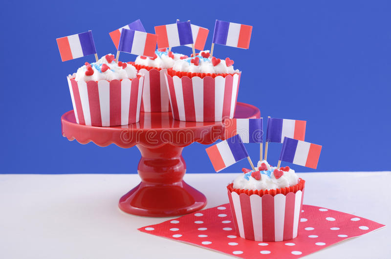 Queques felizes do dia de Bastille fotografia de stock royalty free