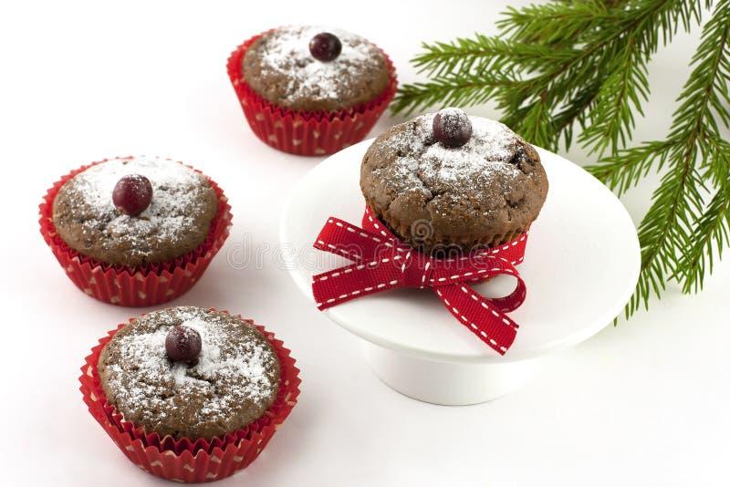 Queques saborosos do Natal no formulário de papel imagens de stock
