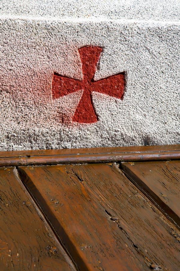 Quer-sumirago Lombardei-Kirche brach brike sonnigen Tag stockfotografie