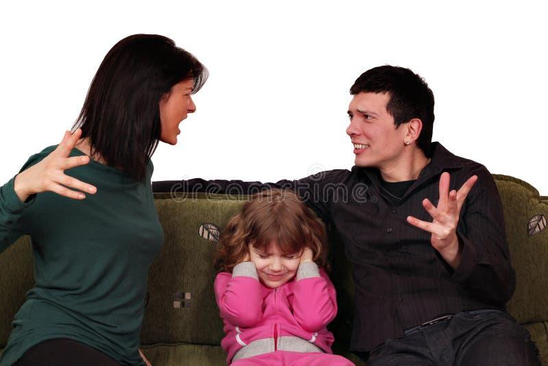 Querelle de famille photographie stock libre de droits